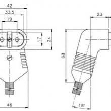 Термостойкий 2-х контактный разъем 728 cer